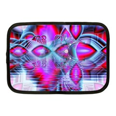 Crystal Northern Lights Palace, Abstract Ice  Netbook Sleeve (medium) by DianeClancy