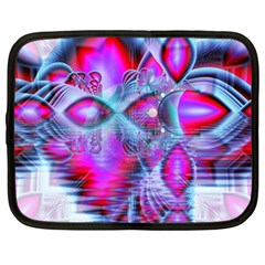 Crystal Northern Lights Palace, Abstract Ice  Netbook Sleeve (xl) by DianeClancy