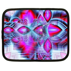 Crystal Northern Lights Palace, Abstract Ice  Netbook Sleeve (xxl) by DianeClancy