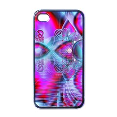 Crystal Northern Lights Palace, Abstract Ice  Apple Iphone 4 Case (black) by DianeClancy