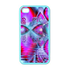 Crystal Northern Lights Palace, Abstract Ice  Apple Iphone 4 Case (color) by DianeClancy