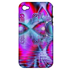 Crystal Northern Lights Palace, Abstract Ice  Apple Iphone 4/4s Hardshell Case (pc+silicone) by DianeClancy