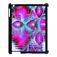 Crystal Northern Lights Palace, Abstract Ice  Apple Ipad 3/4 Case (black) by DianeClancy