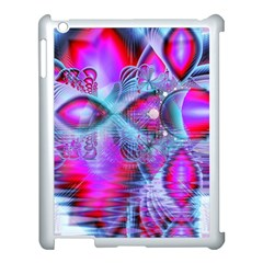 Crystal Northern Lights Palace, Abstract Ice  Apple Ipad 3/4 Case (white) by DianeClancy