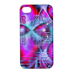 Crystal Northern Lights Palace, Abstract Ice  Apple Iphone 4/4s Hardshell Case With Stand by DianeClancy