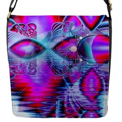 Crystal Northern Lights Palace, Abstract Ice  Flap Closure Messenger Bag (small) by DianeClancy