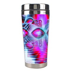 Crystal Northern Lights Palace, Abstract Ice  Stainless Steel Travel Tumbler by DianeClancy