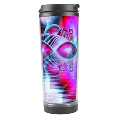 Crystal Northern Lights Palace, Abstract Ice  Travel Tumbler by DianeClancy