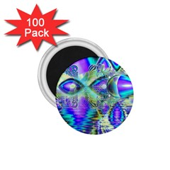 Abstract Peacock Celebration, Golden Violet Teal 1 75  Button Magnet (100 Pack) by DianeClancy