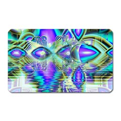 Abstract Peacock Celebration, Golden Violet Teal Magnet (rectangular) by DianeClancy