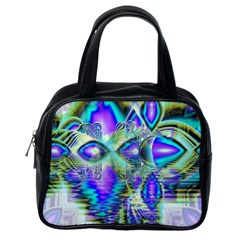 Abstract Peacock Celebration, Golden Violet Teal Classic Handbag (one Side) by DianeClancy