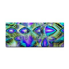 Abstract Peacock Celebration, Golden Violet Teal Hand Towel by DianeClancy