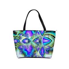 Abstract Peacock Celebration, Golden Violet Teal Large Shoulder Bag by DianeClancy