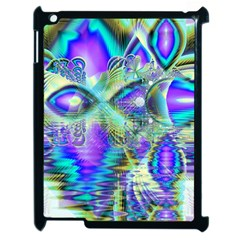 Abstract Peacock Celebration, Golden Violet Teal Apple Ipad 2 Case (black) by DianeClancy