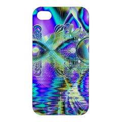 Abstract Peacock Celebration, Golden Violet Teal Apple Iphone 4/4s Premium Hardshell Case by DianeClancy