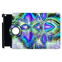Abstract Peacock Celebration, Golden Violet Teal Apple Ipad 2 Flip 360 Case by DianeClancy