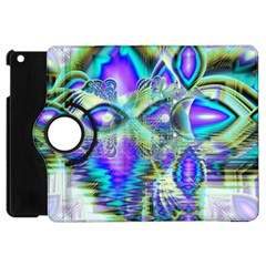 Abstract Peacock Celebration, Golden Violet Teal Apple Ipad Mini Flip 360 Case by DianeClancy
