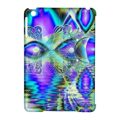 Abstract Peacock Celebration, Golden Violet Teal Apple Ipad Mini Hardshell Case (compatible With Smart Cover) by DianeClancy