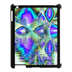 Abstract Peacock Celebration, Golden Violet Teal Apple Ipad 3/4 Case (black) by DianeClancy