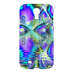 Abstract Peacock Celebration, Golden Violet Teal Samsung Galaxy S4 I9500/i9505 Hardshell Case by DianeClancy