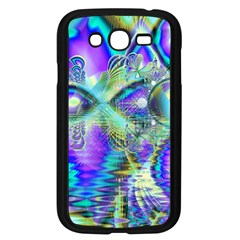 Abstract Peacock Celebration, Golden Violet Teal Samsung Galaxy Grand Duos I9082 Case (black) by DianeClancy