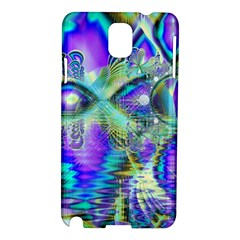 Abstract Peacock Celebration, Golden Violet Teal Samsung Galaxy Note 3 N9005 Hardshell Case by DianeClancy