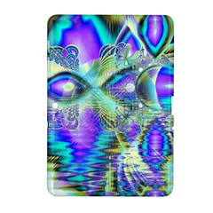 Abstract Peacock Celebration, Golden Violet Teal Samsung Galaxy Tab 2 (10 1 ) P5100 Hardshell Case  by DianeClancy