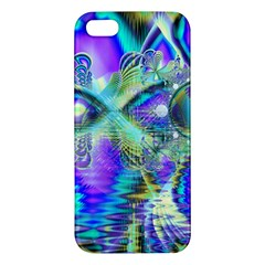 Abstract Peacock Celebration, Golden Violet Teal Iphone 5s Premium Hardshell Case by DianeClancy