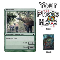 Mesozoic Hunter Cards By Michael   Playing Cards 54 Designs   3qbom8ya1v18   Www Artscow Com Front - Heart7