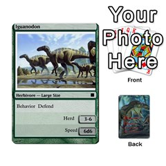 Mesozoic Hunter Cards By Michael   Playing Cards 54 Designs   3qbom8ya1v18   Www Artscow Com Front - Heart8