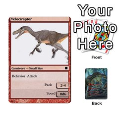 Mesozoic Hunter Cards By Michael   Playing Cards 54 Designs   3qbom8ya1v18   Www Artscow Com Front - Diamond8