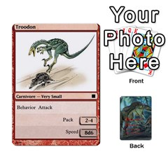 Mesozoic Hunter Cards By Michael   Playing Cards 54 Designs   3qbom8ya1v18   Www Artscow Com Front - Diamond9