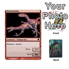 Ace Mesozoic Hunter Cards By Michael   Playing Cards 54 Designs   3qbom8ya1v18   Www Artscow Com Front - DiamondA