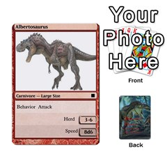 Mesozoic Hunter Cards By Michael   Playing Cards 54 Designs   3qbom8ya1v18   Www Artscow Com Front - Club6