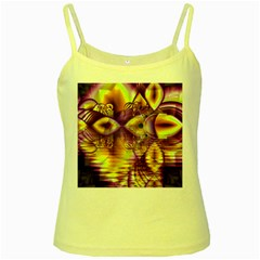 Golden Violet Crystal Palace, Abstract Cosmic Explosion Yellow Spaghetti Tank by DianeClancy