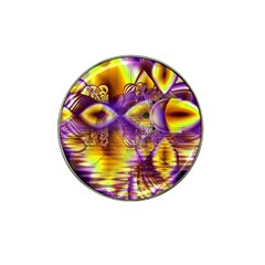 Golden Violet Crystal Palace, Abstract Cosmic Explosion Golf Ball Marker 4 Pack (for Hat Clip) by DianeClancy