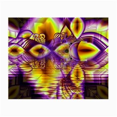 Golden Violet Crystal Palace, Abstract Cosmic Explosion Glasses Cloth (small) by DianeClancy