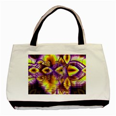 Golden Violet Crystal Palace, Abstract Cosmic Explosion Classic Tote Bag by DianeClancy