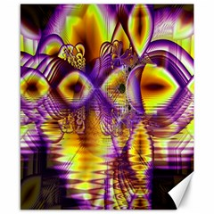 Golden Violet Crystal Palace, Abstract Cosmic Explosion Canvas 8  X 10  (unframed) by DianeClancy