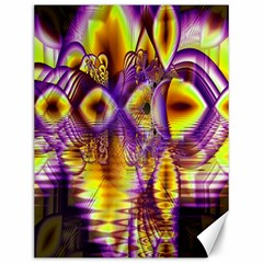 Golden Violet Crystal Palace, Abstract Cosmic Explosion Canvas 12  X 16  (unframed) by DianeClancy