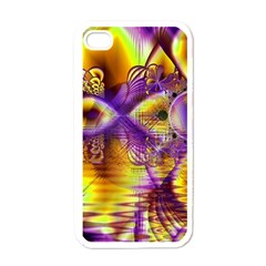 Golden Violet Crystal Palace, Abstract Cosmic Explosion Apple Iphone 4 Case (white) by DianeClancy