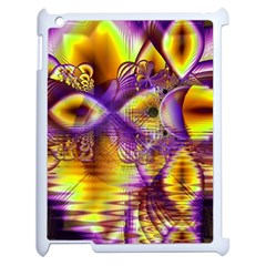 Golden Violet Crystal Palace, Abstract Cosmic Explosion Apple Ipad 2 Case (white) by DianeClancy