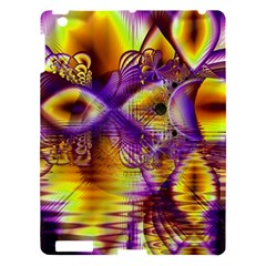 Golden Violet Crystal Palace, Abstract Cosmic Explosion Apple Ipad 3/4 Hardshell Case by DianeClancy