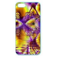 Golden Violet Crystal Palace, Abstract Cosmic Explosion Apple Seamless Iphone 5 Case (color) by DianeClancy