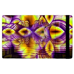Golden Violet Crystal Palace, Abstract Cosmic Explosion Apple Ipad 3/4 Flip Case by DianeClancy