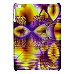 Golden Violet Crystal Palace, Abstract Cosmic Explosion Apple Ipad Mini Hardshell Case by DianeClancy