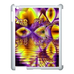 Golden Violet Crystal Palace, Abstract Cosmic Explosion Apple Ipad 3/4 Case (white) by DianeClancy