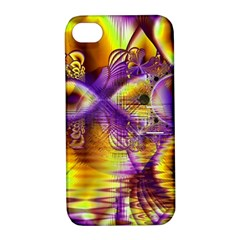 Golden Violet Crystal Palace, Abstract Cosmic Explosion Apple Iphone 4/4s Hardshell Case With Stand by DianeClancy