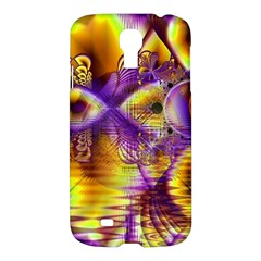 Golden Violet Crystal Palace, Abstract Cosmic Explosion Samsung Galaxy S4 I9500/i9505 Hardshell Case by DianeClancy