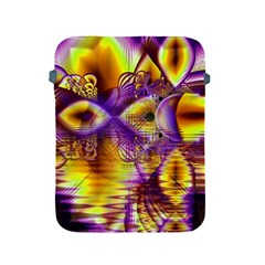 Golden Violet Crystal Palace, Abstract Cosmic Explosion Apple Ipad Protective Sleeve by DianeClancy
